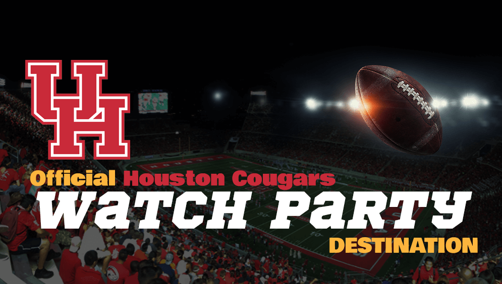 The official Houston Cougars Watch Party Destination